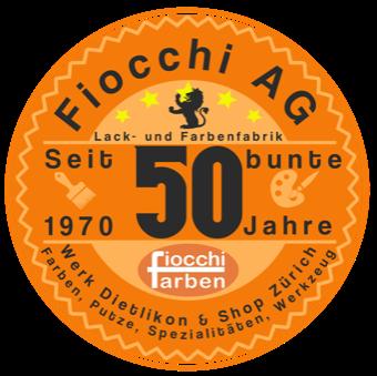 Logo 50 Jahre Fiocchi Farben