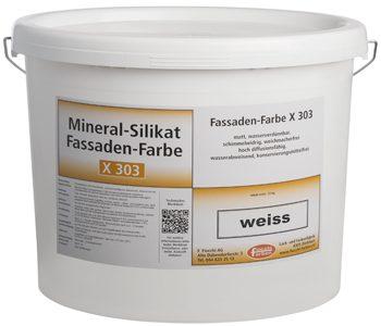 Mineral Silikat Fassadenfarbe X303