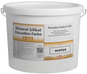 Mineral-Silikat Fassadenfarbe X303