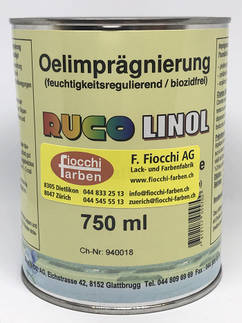 Rucolinol Oelimprägnierung